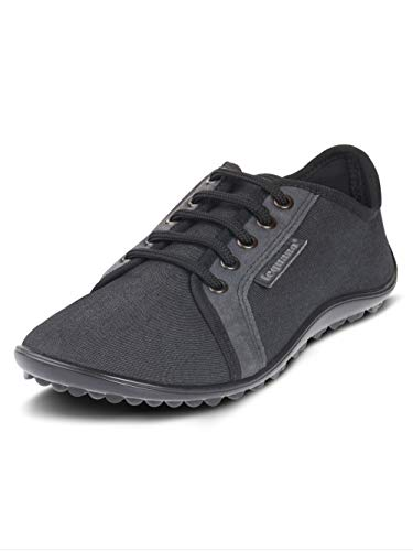 leguano Denim Graphit - Legerer Barfußschuh für City & Co (38, Graphit)