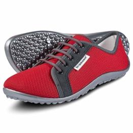 leguano aktiv rot - der sportliche Barfußschuh (rot, Numeric_39) - 1
