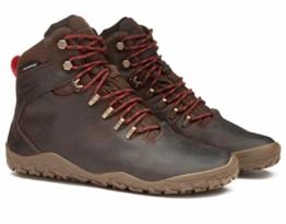 VIVOBAREFOOT Damen Tracker FG L Leather Wanderschuh, Dunkelbraun, 40/41 EU - 1