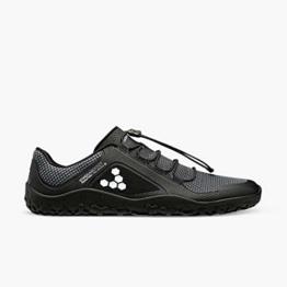 Vivobarefoot Primus Trail FG für Herren, recycelter, atmungsaktiver Netzstoff, Offroad-Schuh mit fester Barfußsohle, Schwarz - anthrazit / schwarz - Größe: 42 EU - 1